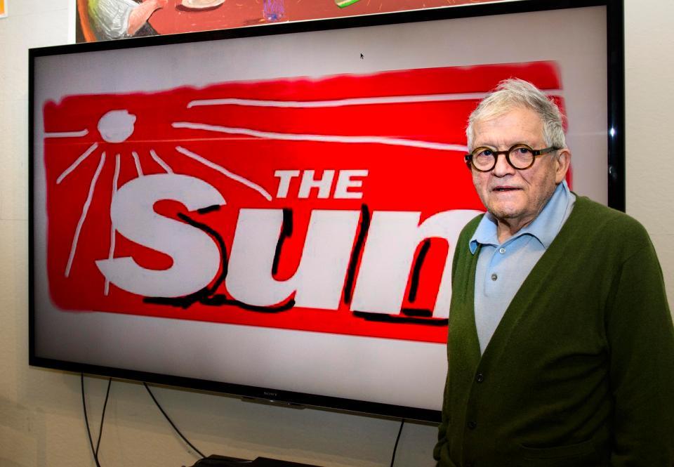 David Hockney Sun logo