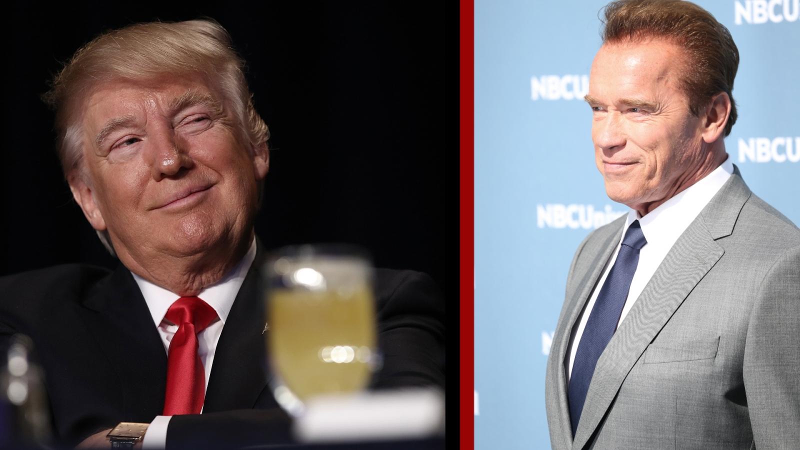 Arnold Schwarzenegger and Donald Trump
