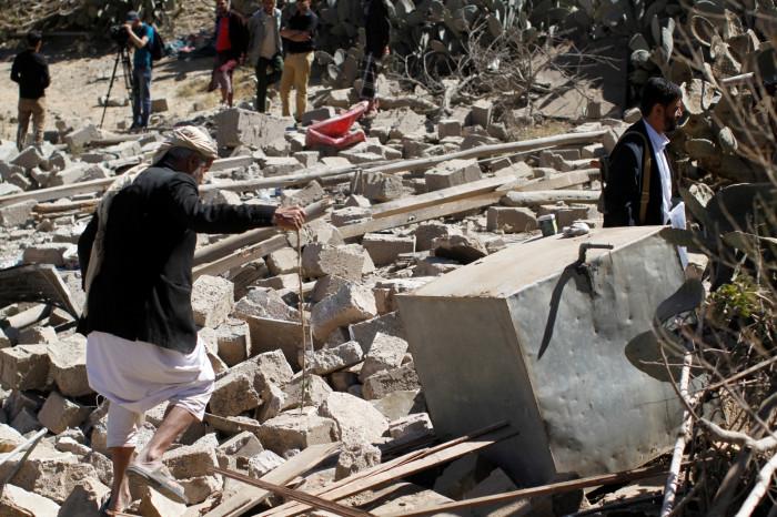 Yemen Saudi air strike 2017