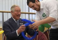 Prince Charles discovers balloons