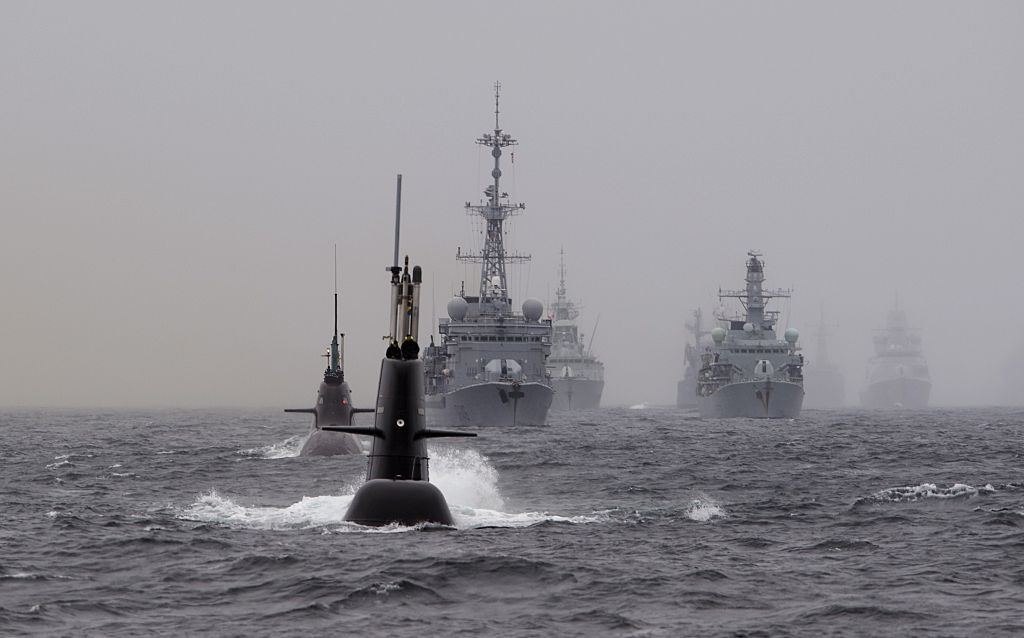 NATO's Dynamic Mongoose anti-submarines exercise in the North Sea, off the coast of Norway