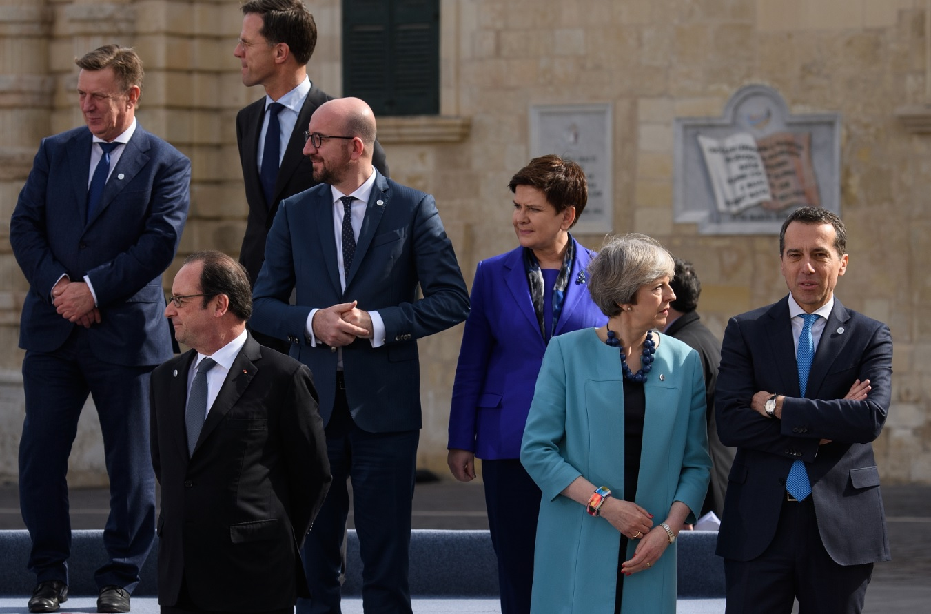 May and Hollande in Malta
