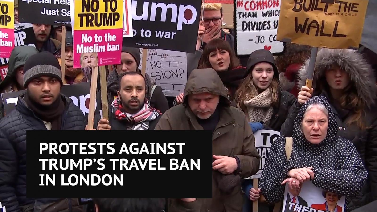Anti-Trump protest in London