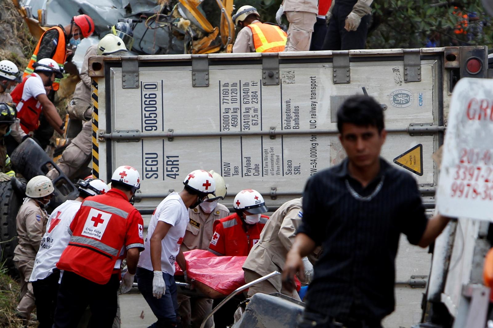 Honduras bus crash