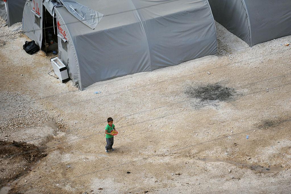 Child refugee in a Turkish refugee camp