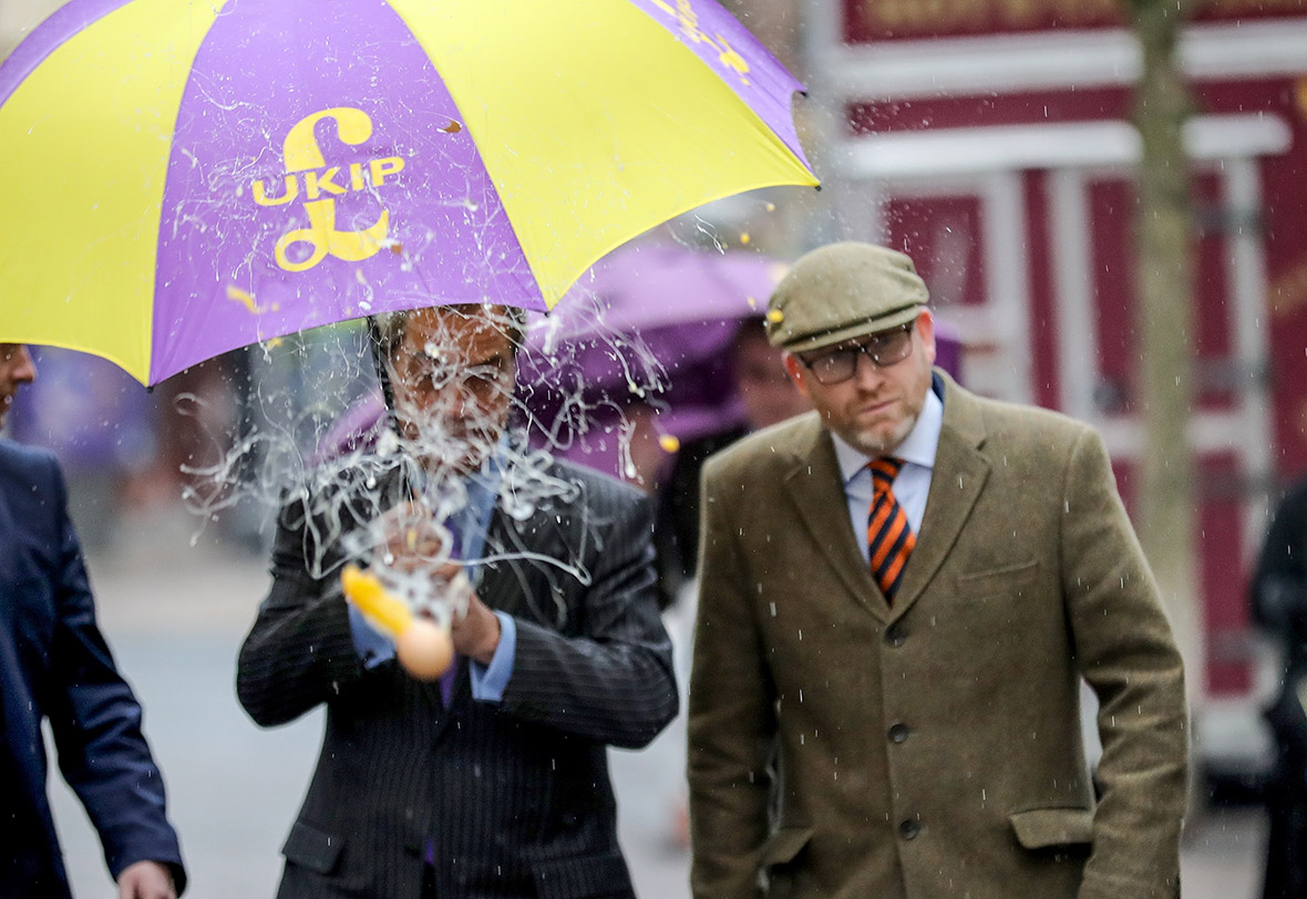 Ukip Farage Nuttall egged