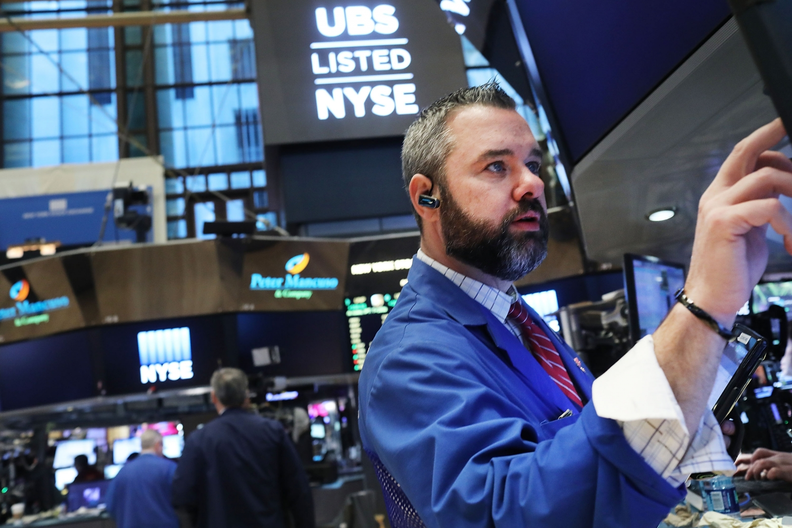 Traders at New York Stock Exchange