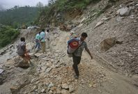 India earthquake landslide