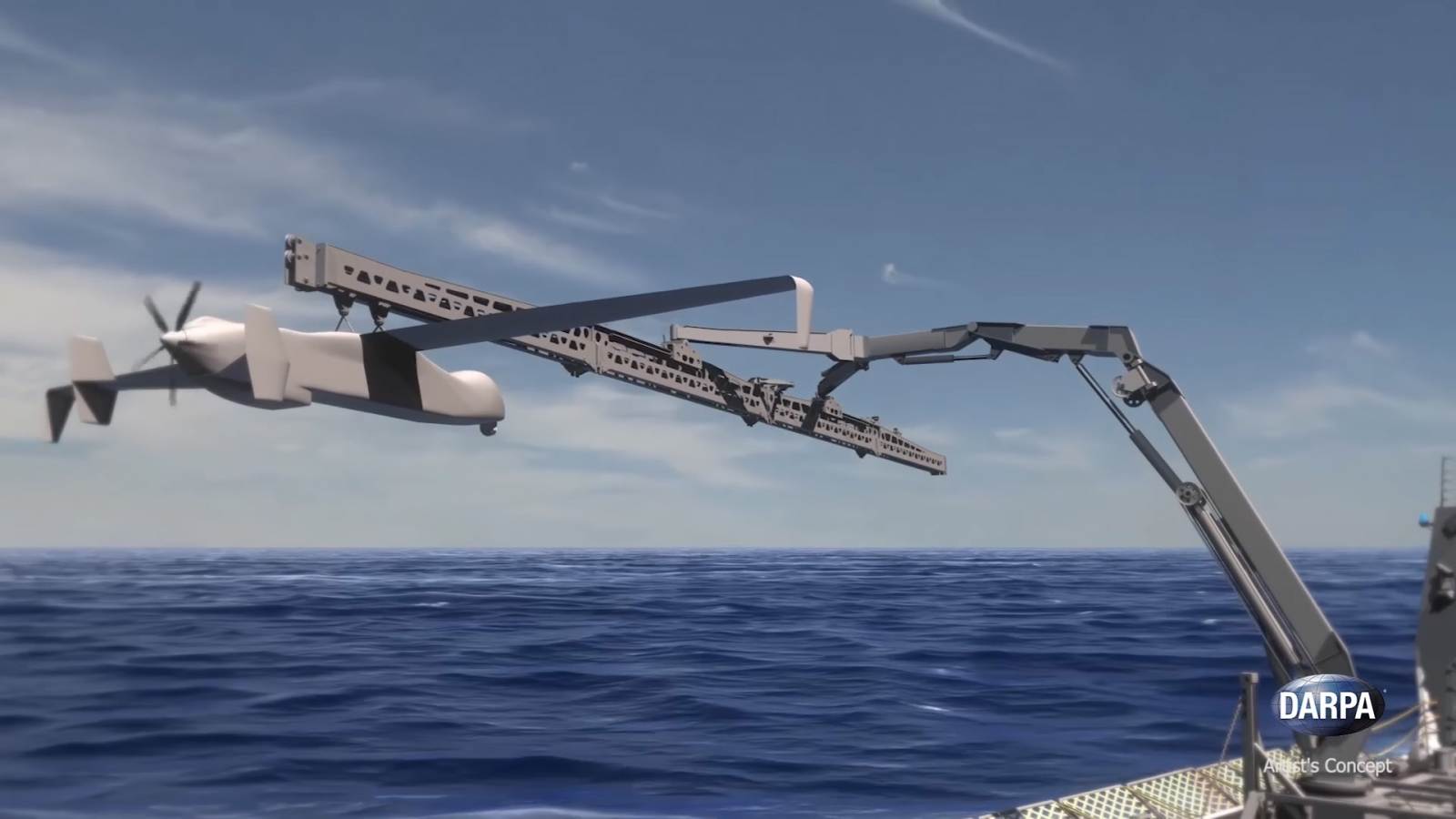 Darpa's SideArm drone launch and retrieval system