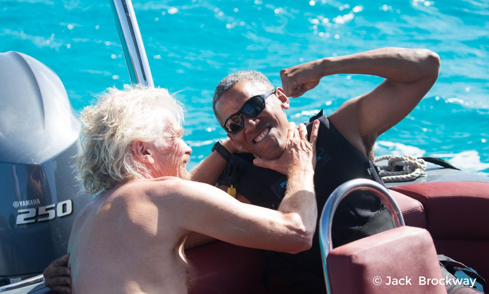 Barack Obama takes on Richard Branson in kiteboarding vs foil boarding challenge