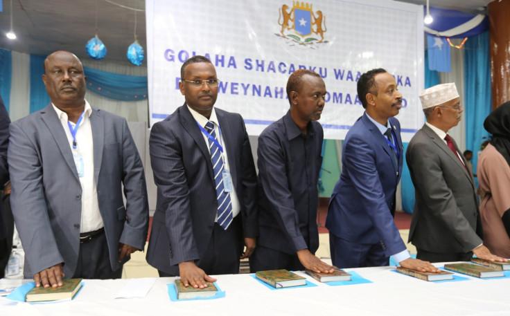 Members of Somalia's federal parliament