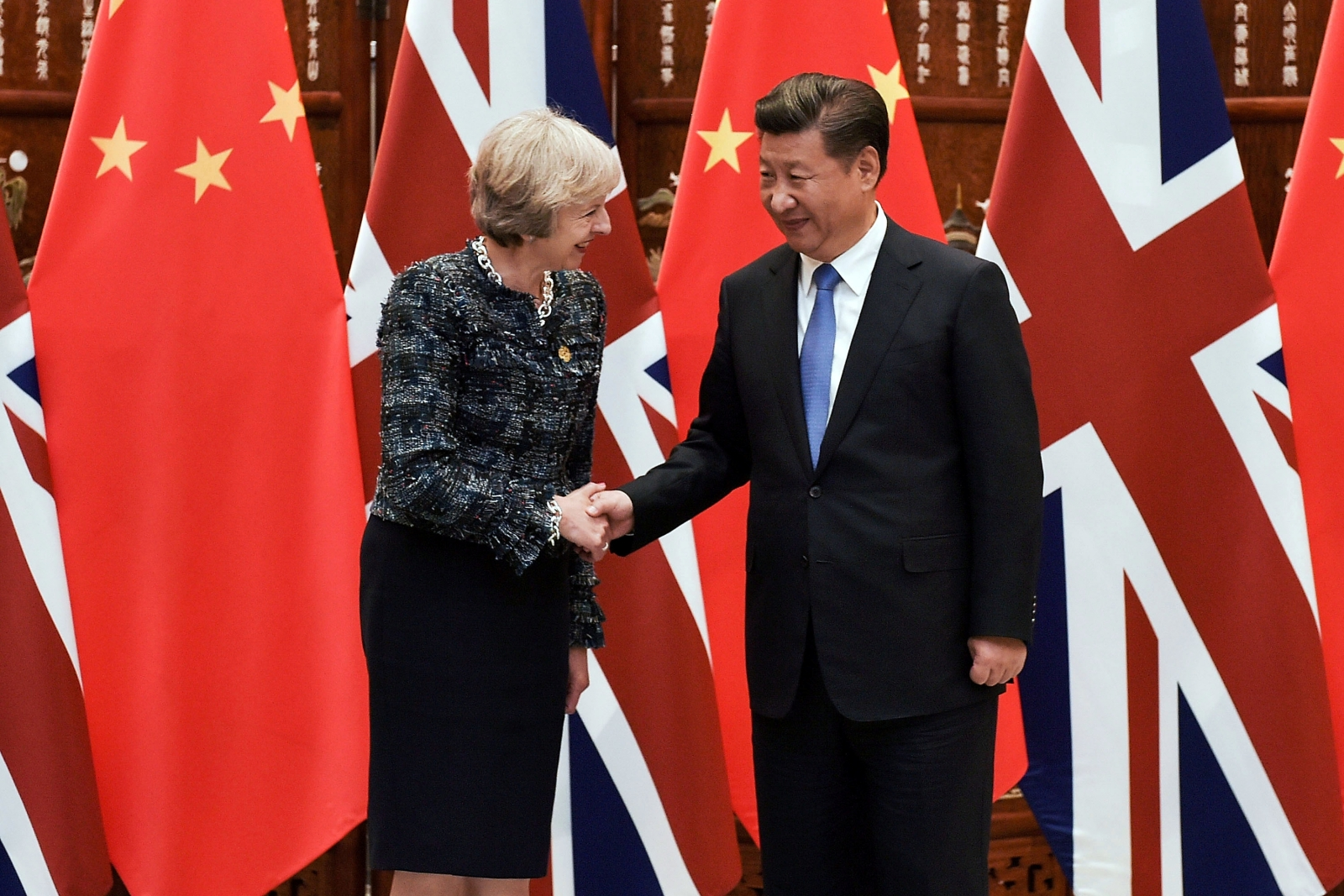 Theresa May Xi Jinping