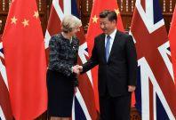 Theresa May Xi Jinping