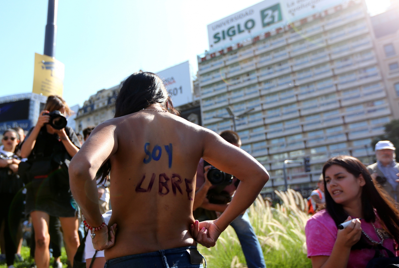Women Stage Topless Protest To Claim Rights To Sunbathe -5183