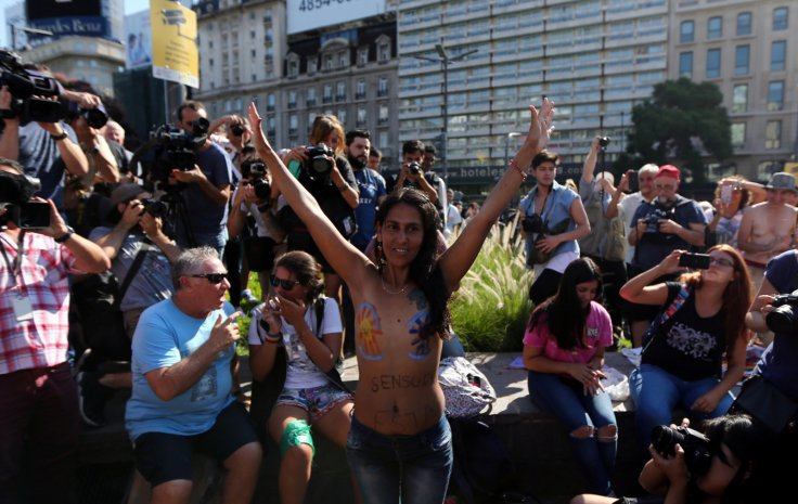 Argentina topless protest