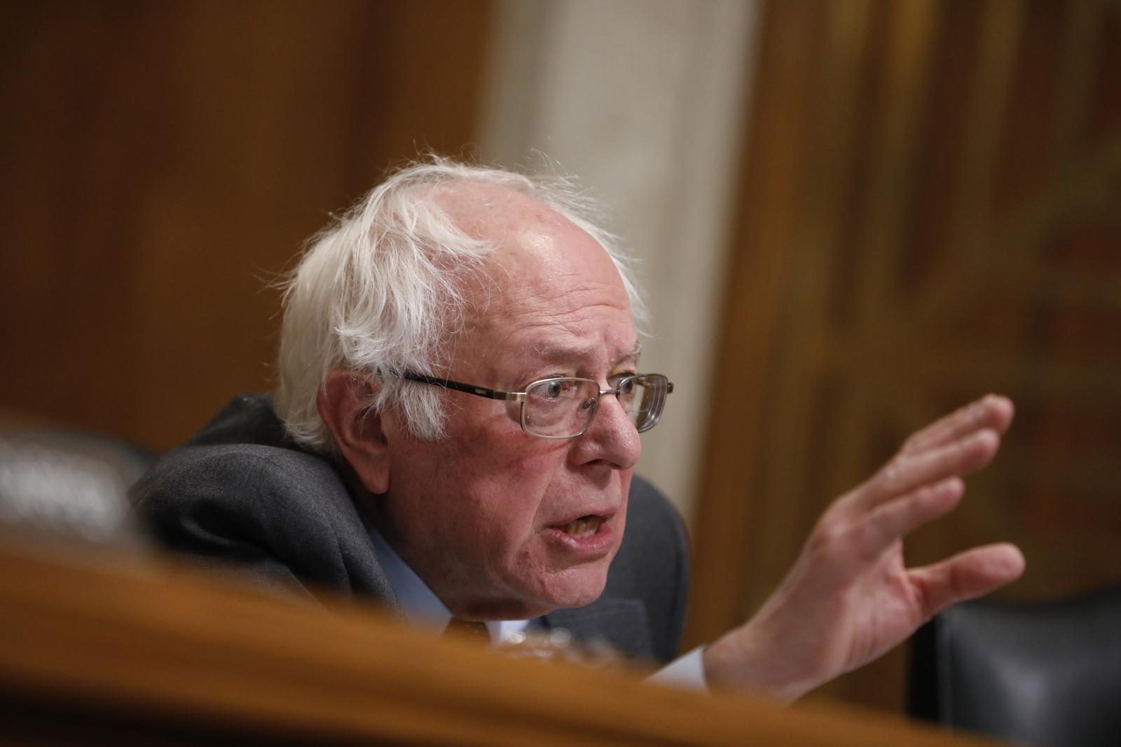 Bernie Sanders during senate committee