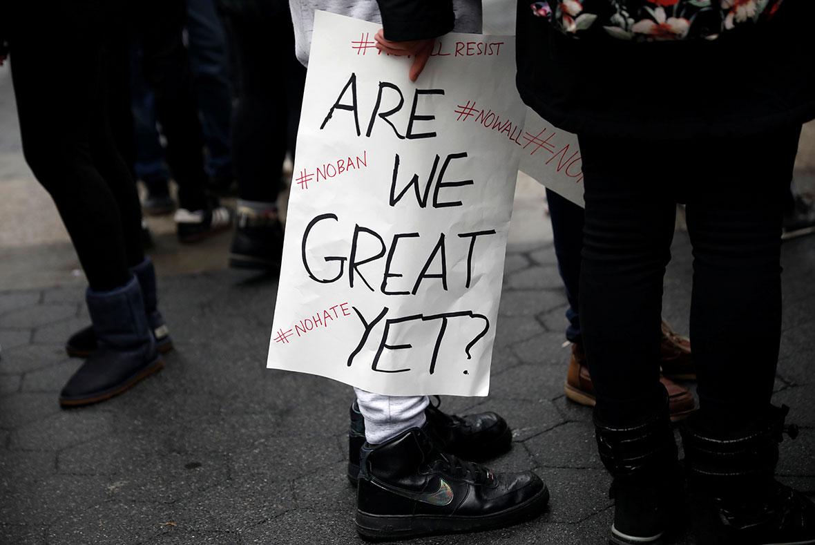 Trump protest, New York City