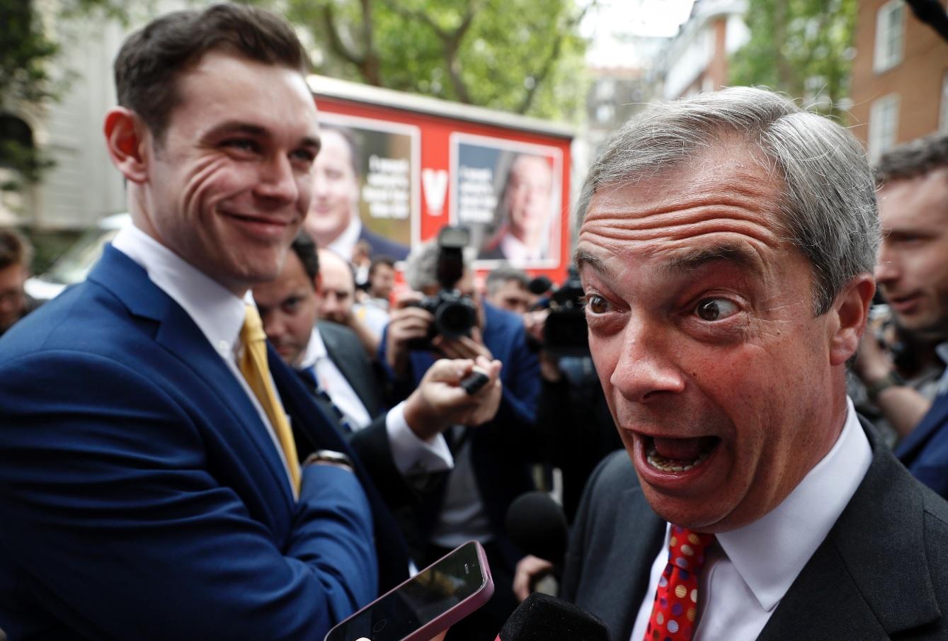 Michael Heaver and Nigel Farage