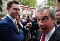 Michael Heaver and Nigel Farage