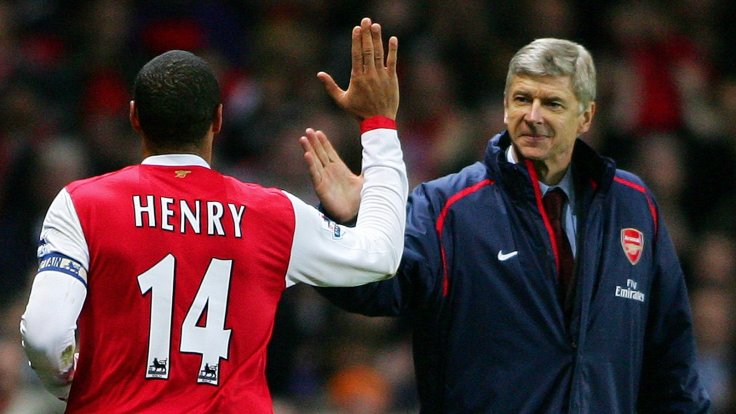 Arsene Wenger Thierry Henry