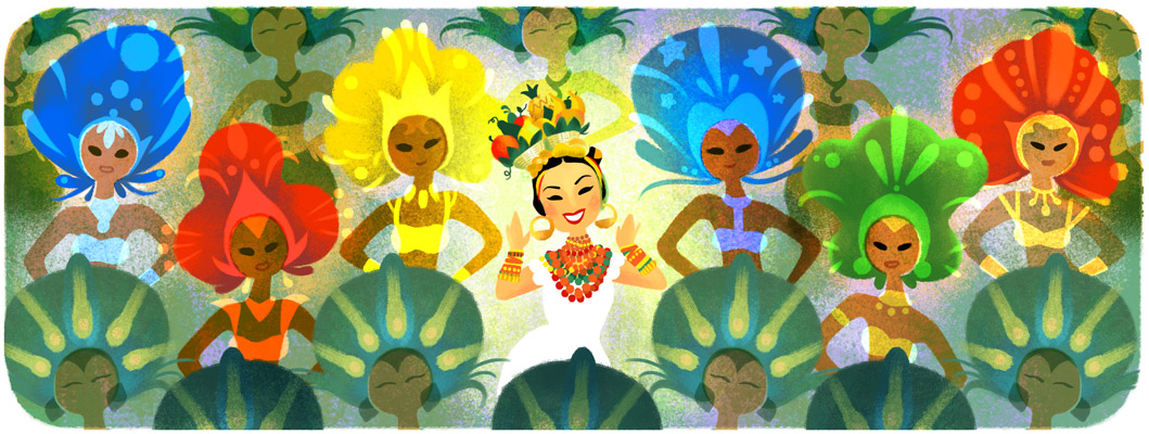 Google doodle carmen Miranda