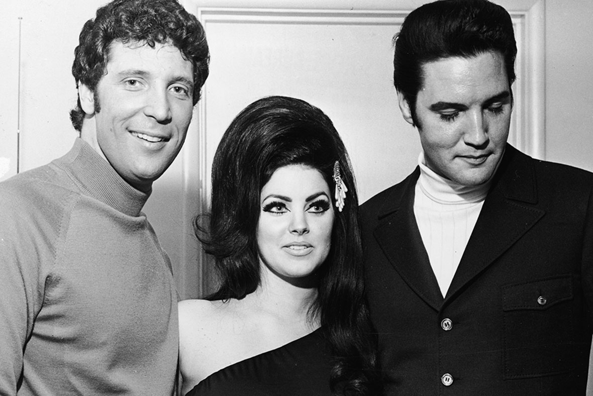 Tom Jones, Priscilla Presley, Elvis Presley
