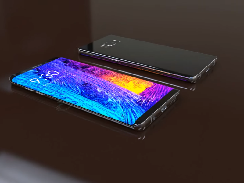 Samsung Galaxy Note 8 fan concept
