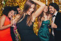 Beautiful woman dancing at a party