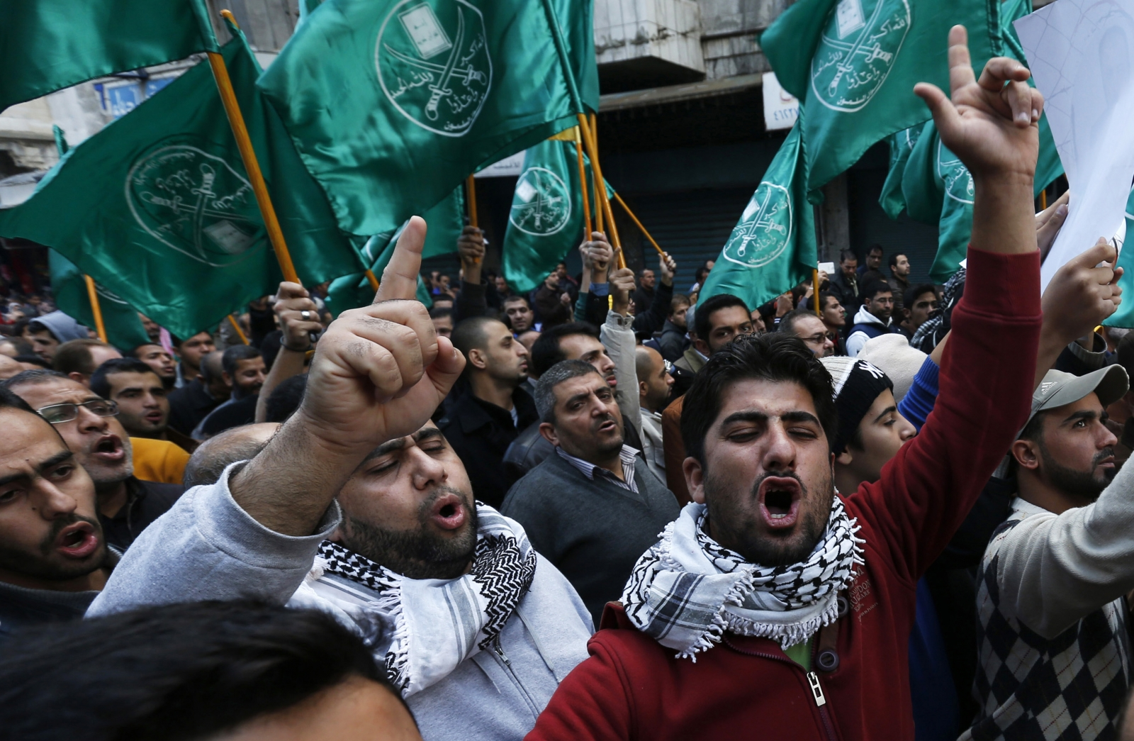 Protesters from the Islamic Action Front