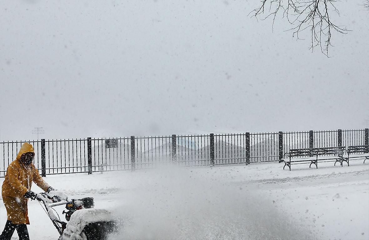 Snow New York weather