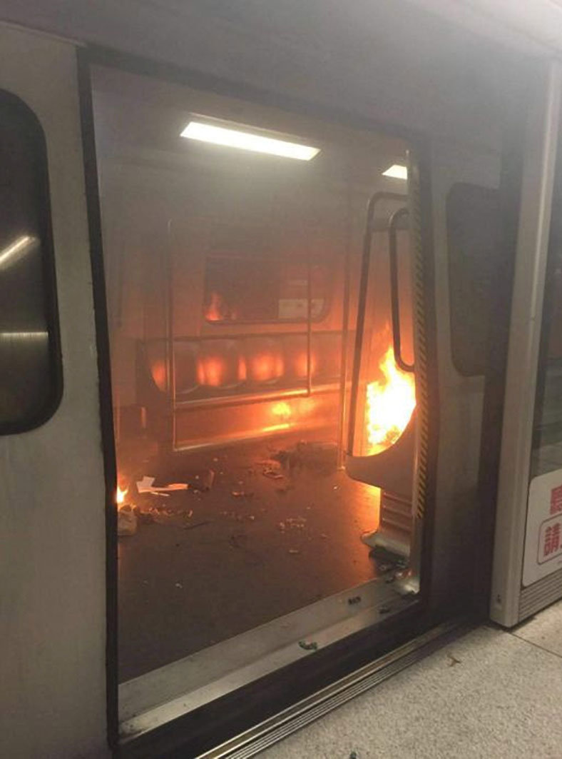Hong Kong self-immolation scare: Train evacuated after 'babbling' man sets himself on fire
