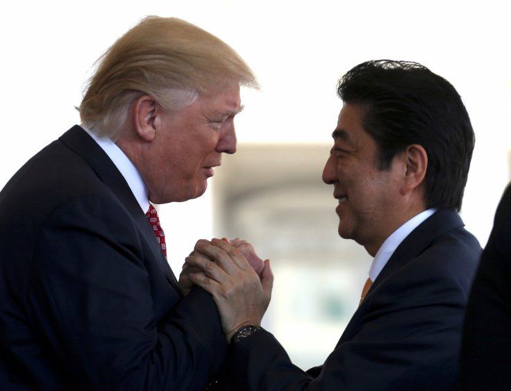 Japanese Prime Minister Abe US President Trump