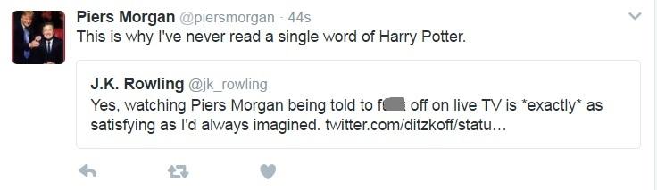 Piers Morgan JK Rowling Twitter spat