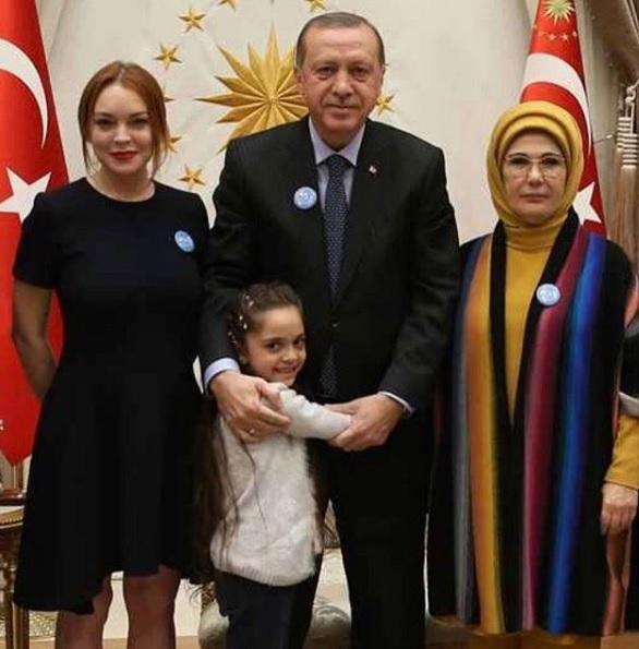 Lindsay Lohan Recep Tayyip Erdogan.