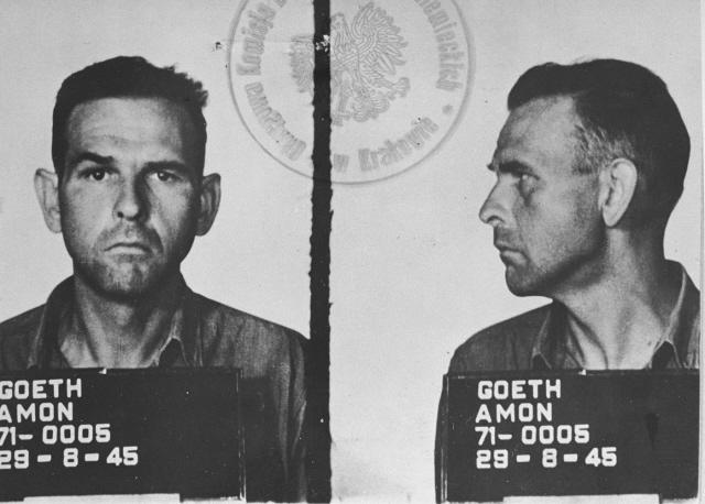 Amon Göth was hanged in 1945 after being convicted at a war crimes trial