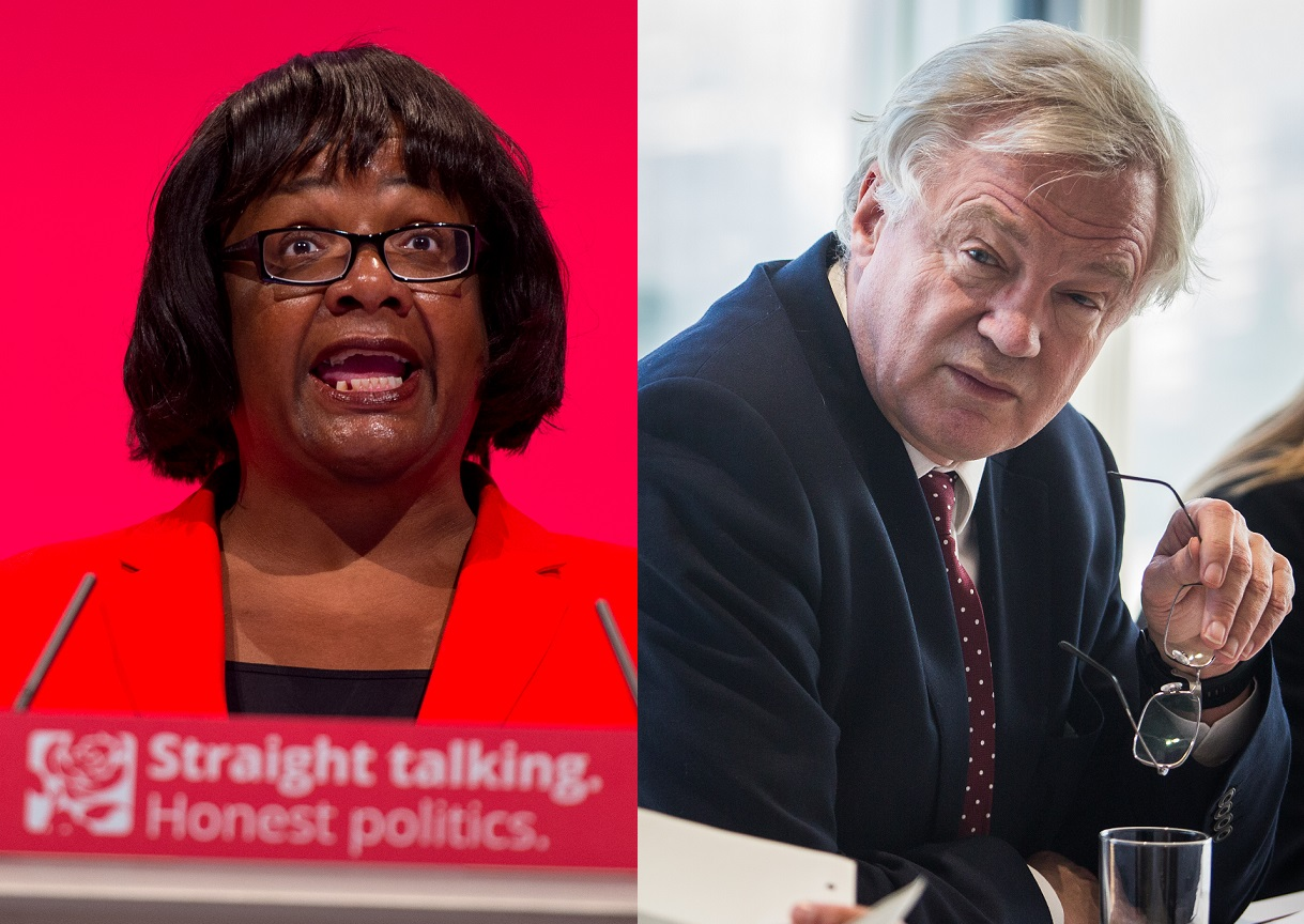 Dianne Abbott and David Davis