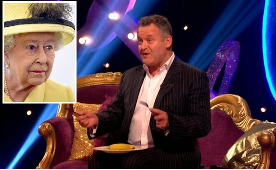 Paul Burrell eating a banana like Queen