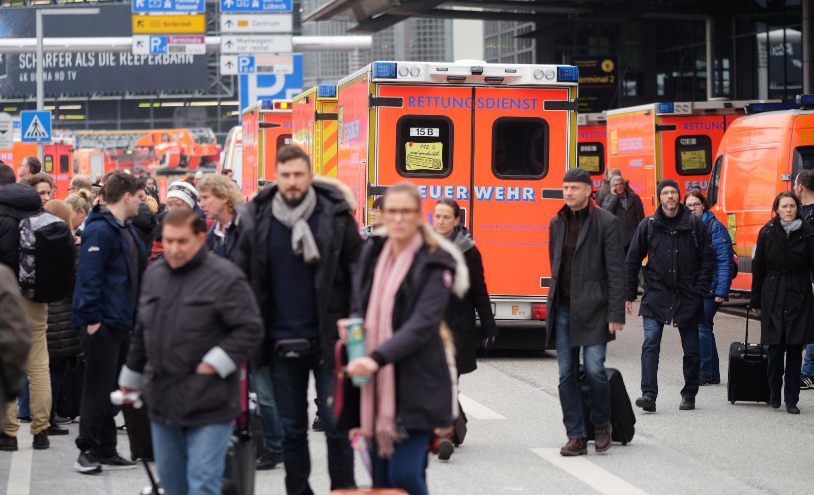 Hamburg Airport toxic gas leak February 2017