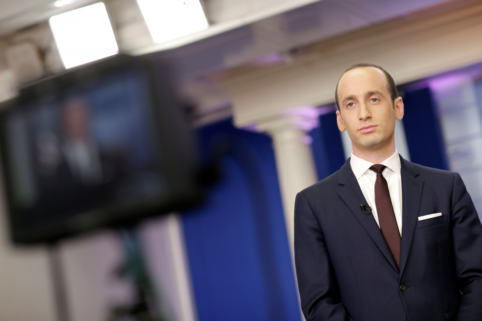 Stephen Miller in the briefing room