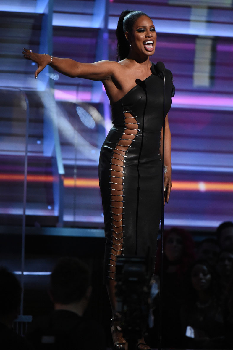 Laverne Cox performs onstage
