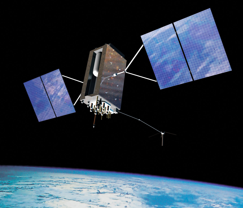An artist's impression of GPS III Satellites