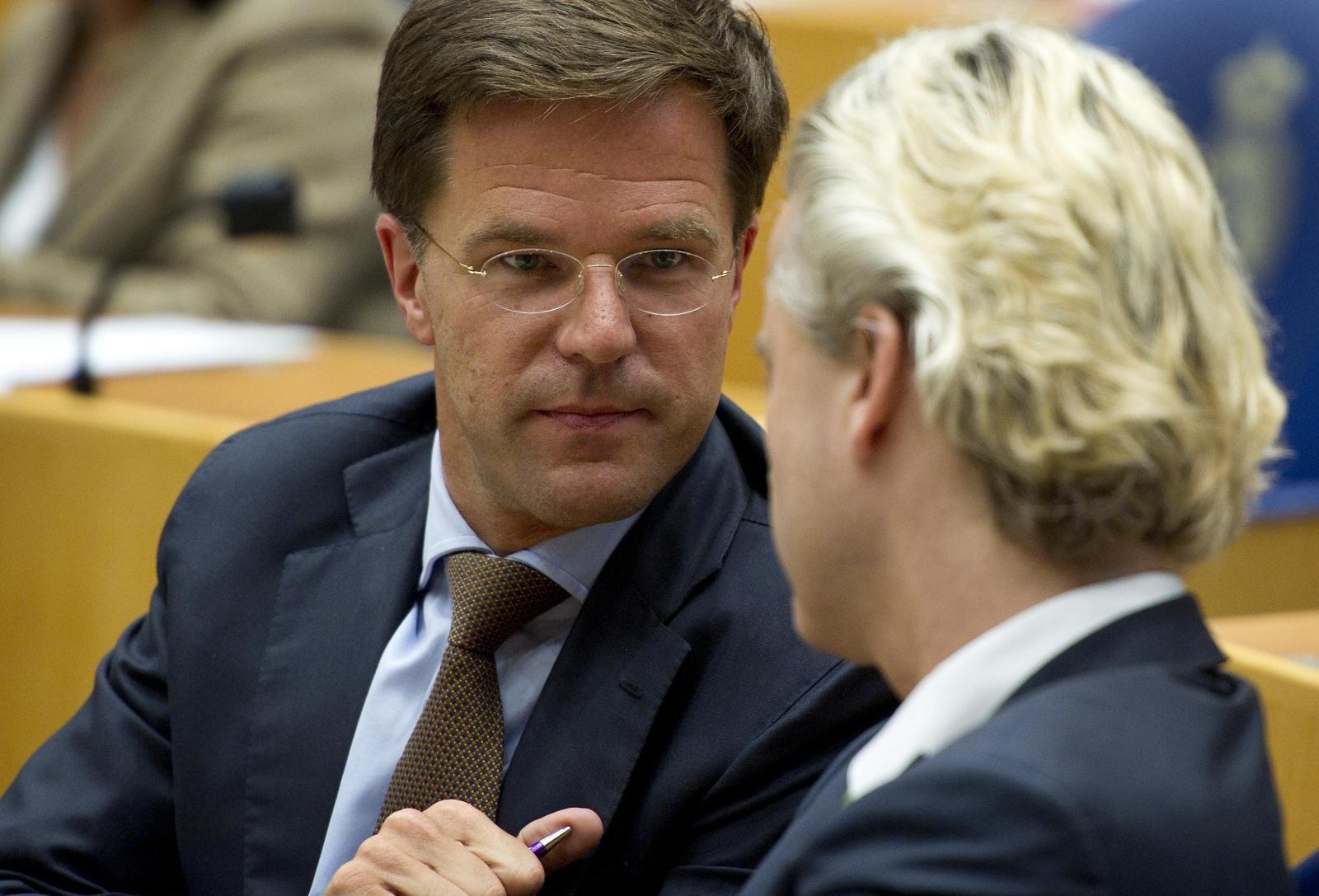 Mark Rutte and Geert Wilders