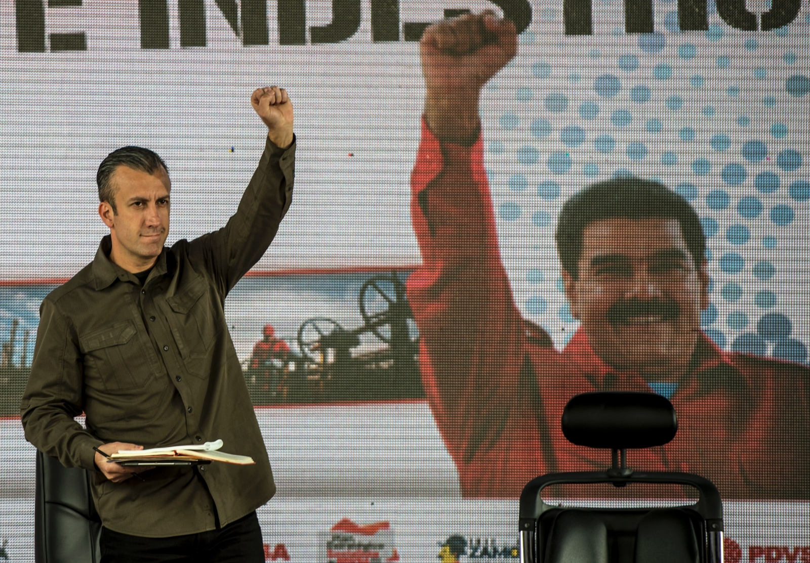 Tarej El Aissami at Caracas rally