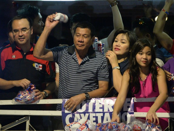 Duterte with his family