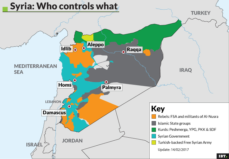 Syria: who controls what (Update: 14/02/2017)