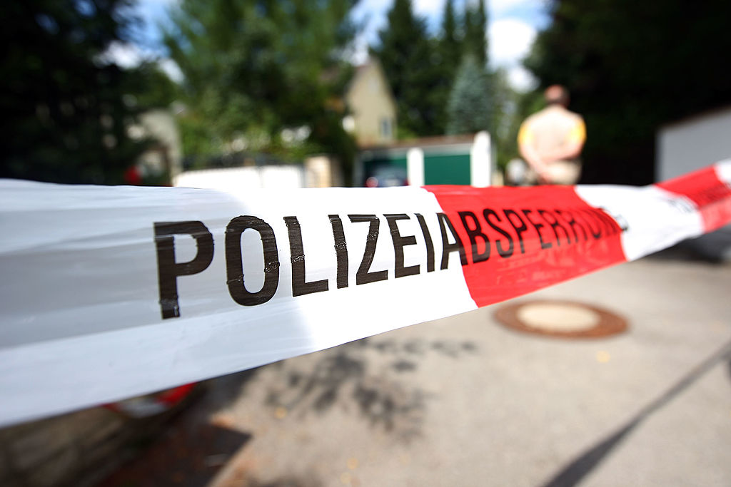 Police tape Germany