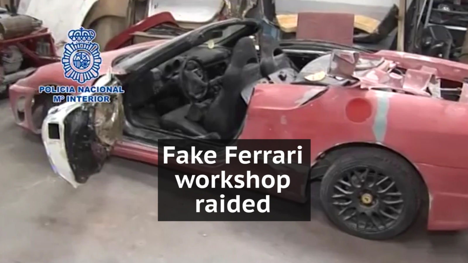 Police raid Spanish workshop which transformed Peugeots into Ferraris