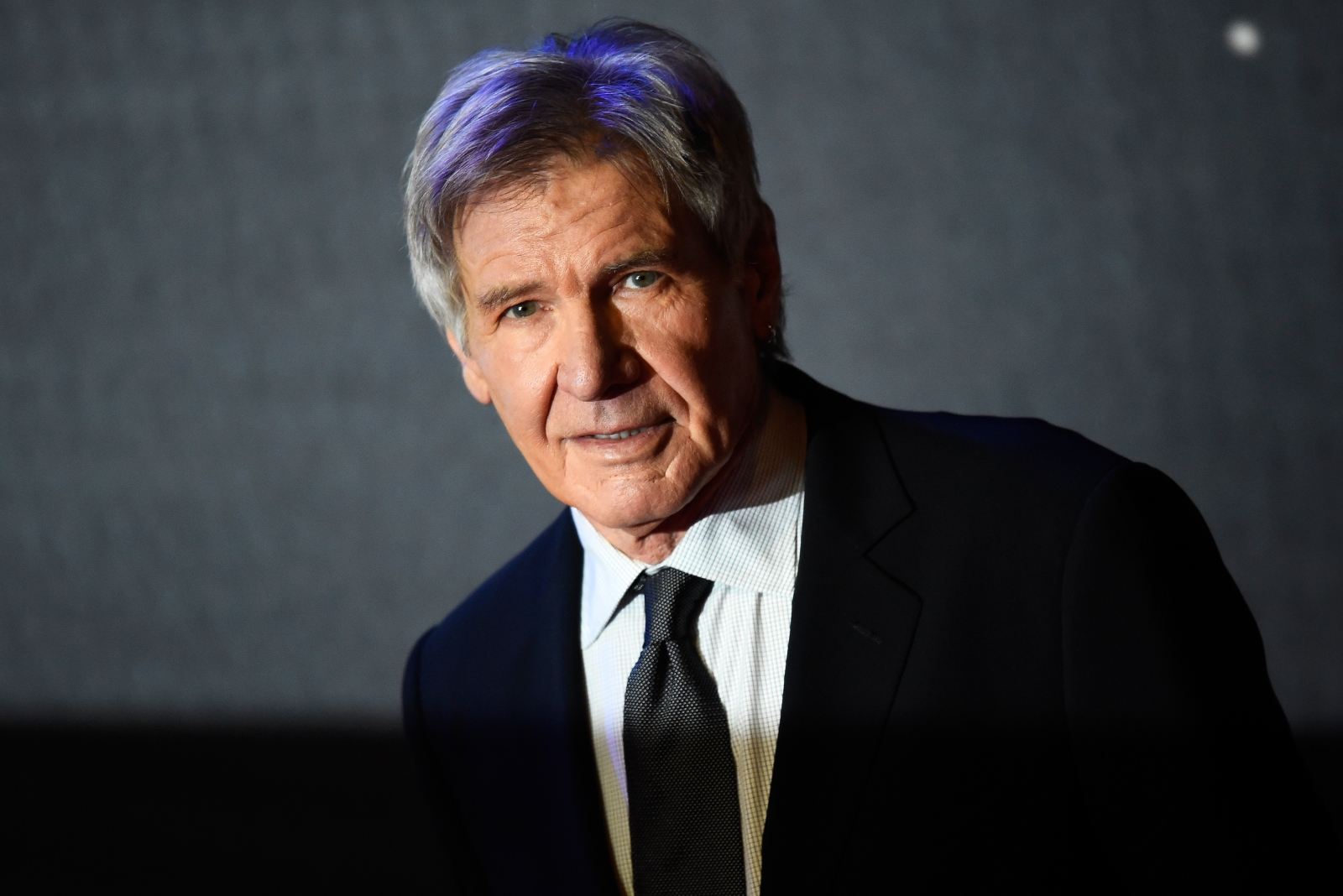 Harrison Ford helps out driver who veered off freeway, crashed