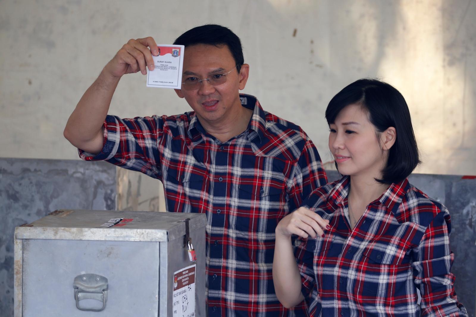 Jakarta governor Ahok Purnama