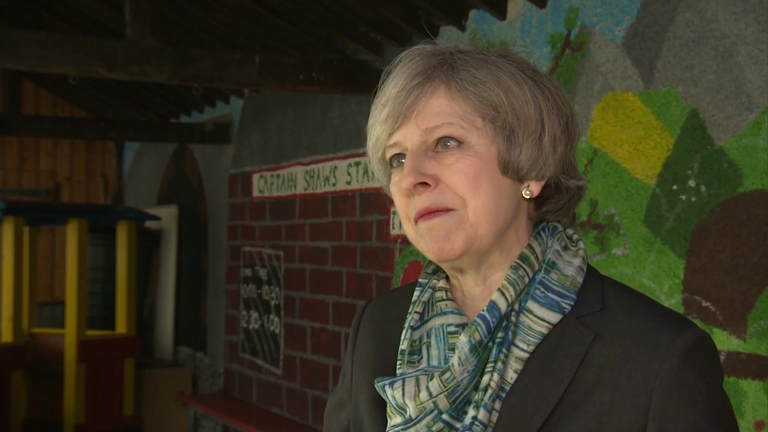 Theresa May dodges questions on hospital cuts four times